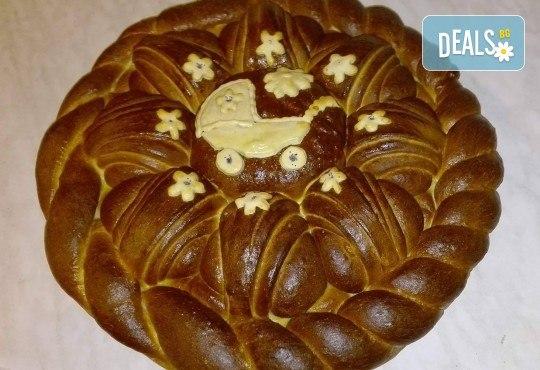 Сладка или солена погача (по избор) 1 или 2 кг с декорация за прощъпулник или кръщене от Работилница за вкусотии Рави! - Снимка 3