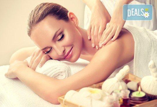 SPA-MIX Изток-Запад: класически масаж на цяло тяло, Hot-Stone терапия, китайски козметичен масаж на лице, шия, деколте и йонна детоксикация в център GreenHealth - Снимка 1