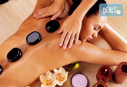 SPA-MIX Изток-Запад: класически масаж на цяло тяло, Hot-Stone терапия, китайски козметичен масаж на лице, шия, деколте и йонна детоксикация в център GreenHealth - Снимка 2