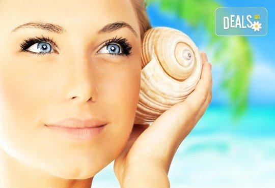150-минутен SPA MIX - масаж на цяло тяло, лице, шия и деколте с раковини и козметична маска с перлен и златен прах в център GreenHealth - Снимка 1