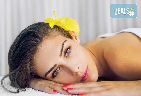 150-минутен SPA MIX - масаж на цяло тяло, лице, шия и деколте с раковини и козметична маска с перлен и златен прах в център GreenHealth - Снимка 2