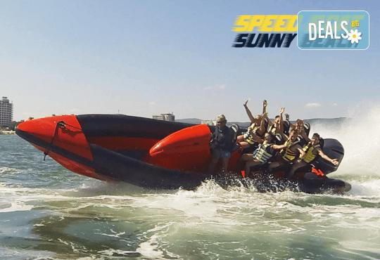 Морско приключение на супер цена! 15 минути разходка с моторна лодка Speed boat adventure край Слънчев бряг! - Снимка 2