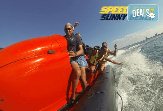 Морско приключение на супер цена! 15 минути разходка с моторна лодка Speed boat adventure край Слънчев бряг! - Снимка 1