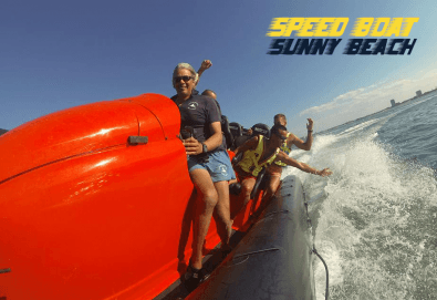 Морско приключение на супер цена! 15 минути разходка с моторна лодка Speed boat adventure край Слънчев бряг! - Снимка