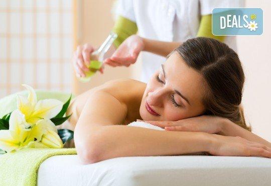 Почистване на лице и ръце на ензимно ниво, ароматерапия и масаж на цяло тяло с лечебно олио в масажно студио Дилянали - Снимка 5