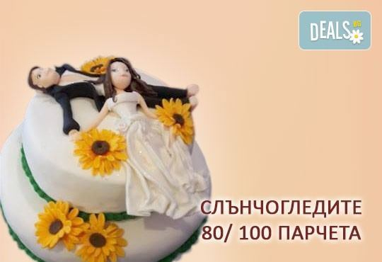 За Вашата сватба! Бутикова сватбена торта с АРТ декорация от Сладкарница Джорджо Джани! - Снимка 12