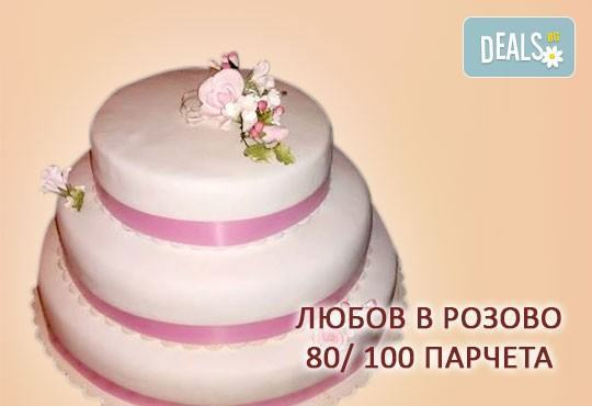 За Вашата сватба! Бутикова сватбена торта с АРТ декорация от Сладкарница Джорджо Джани! - Снимка 6