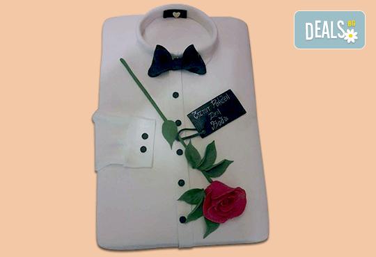Празнична торта Честито кумство с пъстри цветя, дизайн сърце, романтични рози, влюбени гълъби или др. от Сладкарница Джорджо Джани - Снимка 3