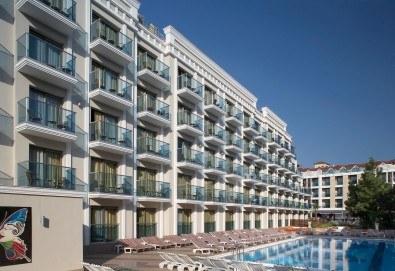 Незабравима почивка в края на лятото в Hotel Emre 4* в Мармарис, Турция! 9 нощувки на база Ultra All Inclusive, транспорт и водач от Дари Тур! - Снимка