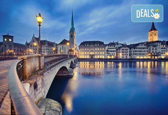 Самолетна екскурзия до Швейцария през септември с посещение на Цюрих, Женева, Лозана, Страсбург и Базел! 4 нощувки със закуски, самолетен билет и програма - Снимка 1