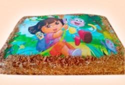Детска торта 16 парчета със снимка на любим герой, декорация и надпис пожелание от Muffin House! - Снимка