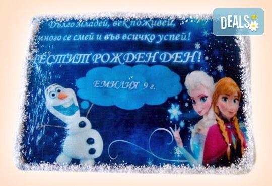 Детска торта 16 парчета със снимка на любим герой, декорация и надпис пожелание от Muffin House! - Снимка 5