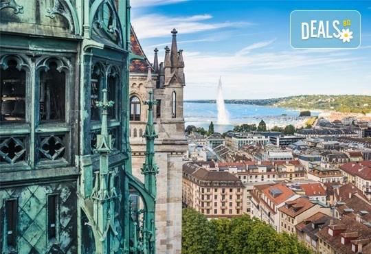 Вашата европейска приказка! Самолетна екскурзия през октомври и ноември до Женева, Швейцария! 3 нощувки в хотел 3* и самолетен билет от Океания Турс! - Снимка 1
