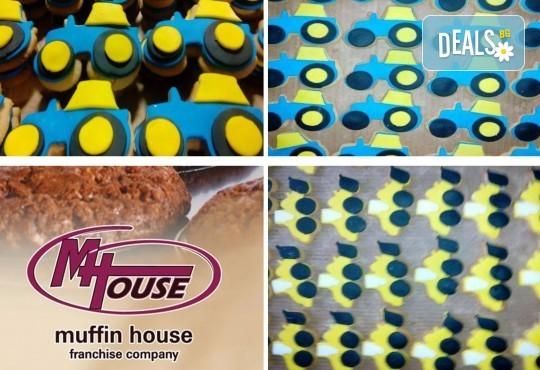 За момчета! Вземете половин или един килограм бисквити за момчета с колички и трактори от Muffin House! - Снимка 2
