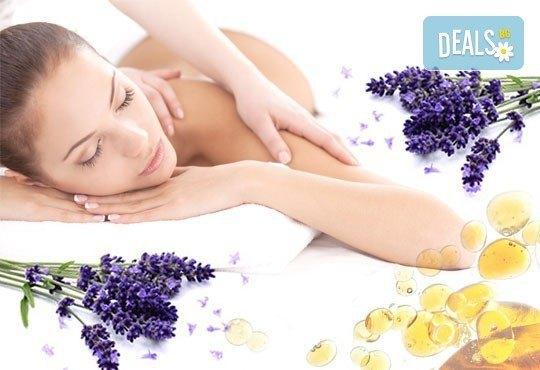 Отпуснете се със 60-минутна антистрес терапия на цялото тяло с масло от лавандула в Център за здраве и красота Мотив! - Снимка 1