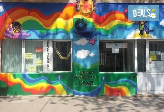 Детски рожден ден в Детски център Приказен свят на супер цена! Зала за 10 деца, зала за възрастни, напитки, пица, украса, аниматор и DJ! - Снимка 12