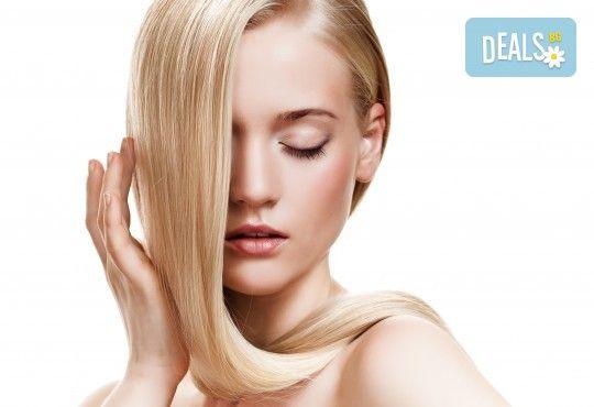 Грижа за суха и изтощена коса! Реконструираща терапия, измиване и оформяне с преса от салон за красота Ди Ес! - Снимка 1