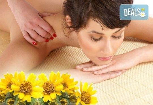 Облекчете неразположенията! 60-минутен болкоуспокояващ масаж ''Бабините разтривки'' на цяло тяло с арника в студио Giro! - Снимка 1