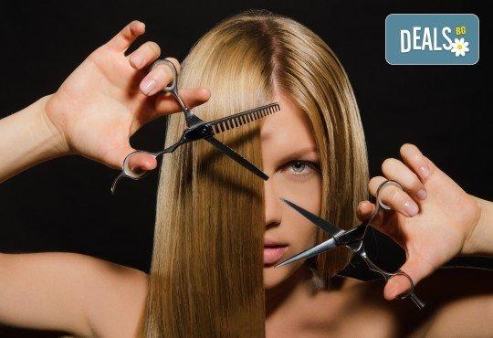 Професионално подстригване, масажно измиване и терапия според типа коса по избор и подсушаване от Женско царство! - Снимка 2