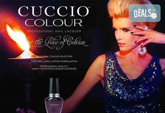 Изграждане с гел, маникюр с гел лак Cuccio или the BLACK BOTTLE, бонус 2 декорации в салон BLOOM beauty & spa - Снимка 9