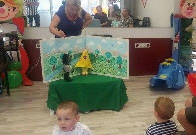 Три часа детски рожден ден за деца от 2 до 6 год. с включен куклен театър, безалкохолни напитки и зала за родителите от детски център Приказен свят - Снимка