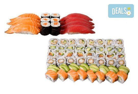 Голям суши сет от Sushi King! Вземете 108 перфектни суши хапки в cуши сет Shogun *Special* на страхотна цена! - Снимка 4