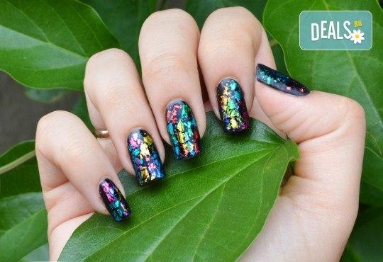 Ноктопластика чрез изграждане, маникюр с гел лак и 2 декорации или френски маникюр в салон за красота Reni nails - Снимка 2