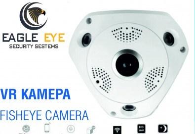 Професионална защита за дома или офиса! Панорамна VR камера Еagle eye security от Grizzly Mall - Снимка