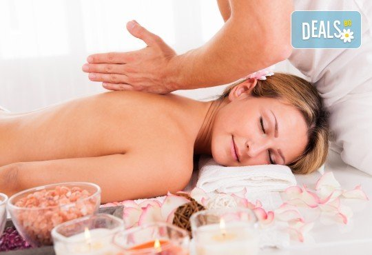 Релаксирайте с 60-минутен масаж на цяло тяло, длани и ходила с масло от маракуя в масажно студио Боди баланс - Снимка 1