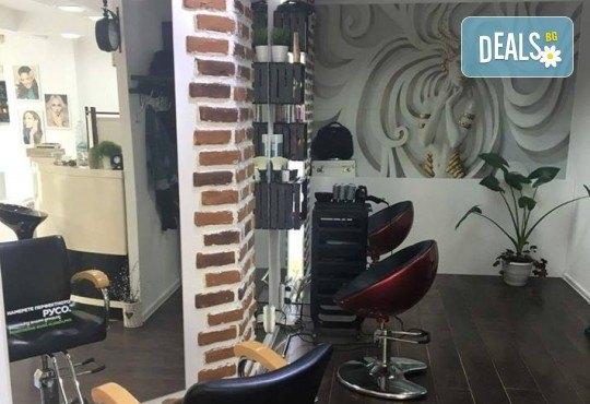 Хубава жена! Маникюр и педикюр с гел лак BlueSky и 2 рисувани декорации в BM Hair Studio в жк. Лозенец - Снимка 13