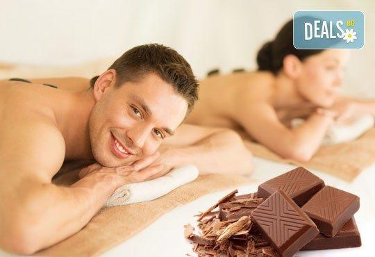 70-минутен релаксиращ масаж на цяло тяло с вулканични камъни и шоколад за един или двама в Chocolate studio! - Снимка 4