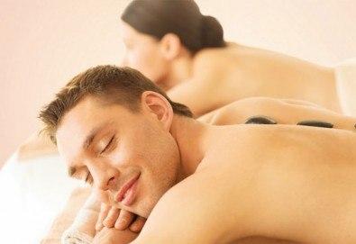 Релакс! Лечебен масаж на гръб с вулканични камъни, бадемово масло и зонотерапия на ръце и длани за един или за двама в Chocolate studio! - Снимка