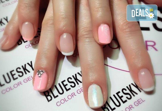 Прекрасни ръце! Маникюр с гел лак BlueSky, 4 рисувани декорации или вграждане на елементи при маникюрист на BM Hair Studio! - Снимка 3