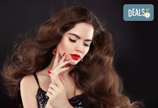 Непреходна красота! Измиване на косата, изсушаване и оформяне на букли в студио за красота Fabio Salsa - Снимка 3