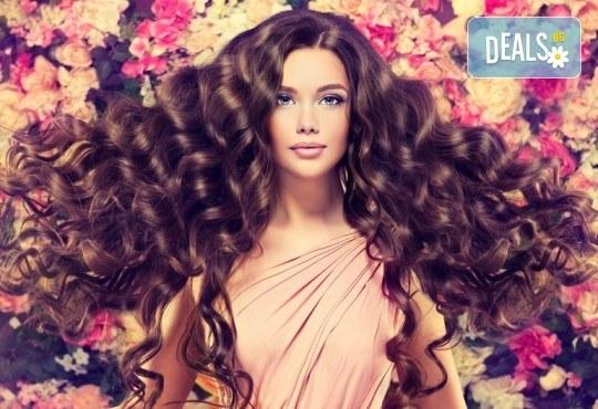 Непреходна красота! Измиване на косата, изсушаване и оформяне на букли в студио за красота Fabio Salsa - Снимка 1
