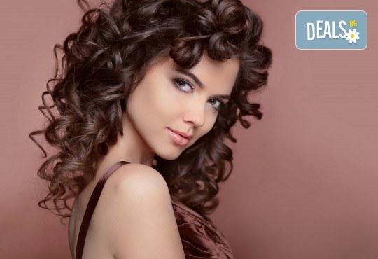 Непреходна красота! Измиване на косата, изсушаване и оформяне на букли в студио за красота Fabio Salsa - Снимка 2