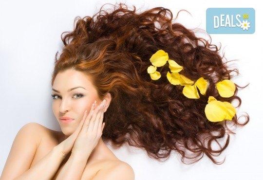 Нова и свежа прическа с подстригване и оформяне със сешоар от салон за красота Сияние - Снимка 3