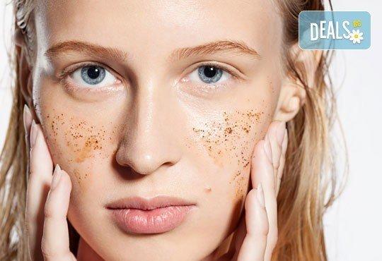 Дълбоко почистване на лице, пилинг и лечебен масаж от студио Нимфея