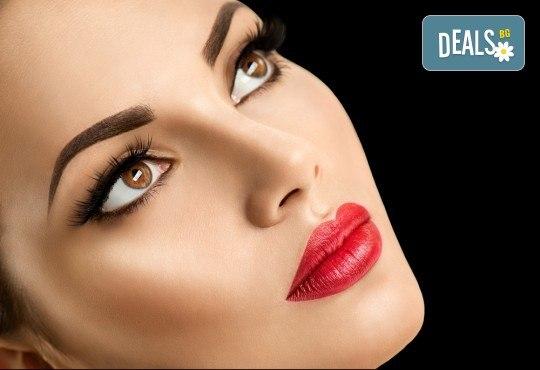Омагьосвайте с очи! Поставяне на мигли по метода косъм по косъм, 3D или 6D технология в Салон за красота Еуфория - Снимка 1