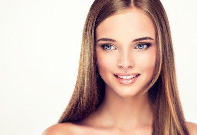 Ламиниране на коса с кератинова терапия на JOIKO и оформяне в прическа - изправяне или букли в Marbella Beauty Studio! - Снимка