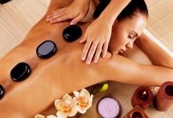 120 мин Spa Mix Изток-Запад! Релаксиращ масаж на тяло с какаово масло и пилинг с кафе, Hot Stone терапия, китайски масаж на лице, шия деколте в център GreenHealth - Снимка