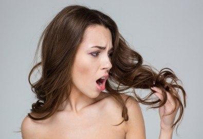 Терапия против косопад, масажно измиване и нанасяне на ампула на Виталис в Marbella Beauty Studio! - Снимка