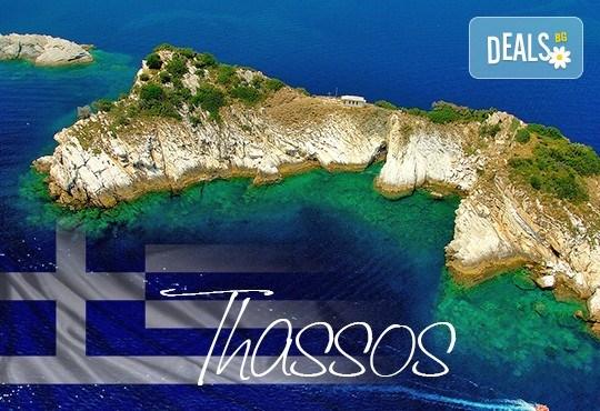 Нова година на о. Тасос, Гърция! 3 нощувки със закуски и вечери в Ellas Hotel 2*, транспорт и посещение на Кавала от агенция Поход! - Снимка 1