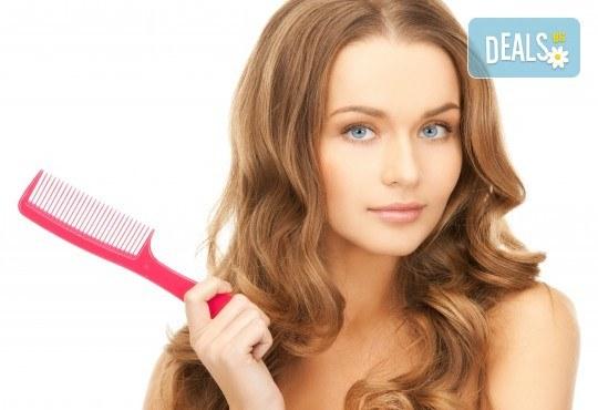 Терапия за коса с ампула по избор - арганова, кокосова или против косопад, и оформяне със сешоар или на плитка в салон за красота Make Trix! - Снимка 1