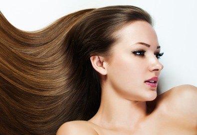 Най-новият метод за премахване на цъфтежи без отнемане на дължината на косата! Брюлаж, масажно измиване с подхранващ шампоан и оформяне на прическа със сешоар в Make Trix! - Снимка