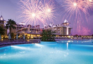 Нова година 2018 в Side Star Resort 5*, Анталия, с Аква Тур! 4 нощувки на база All Inclusive, безплатно за дете до 14.99г., собствен транспорт! - Снимка