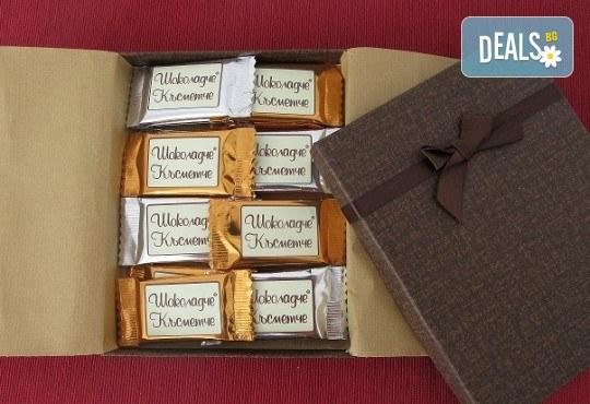 16 броя шоколадови късметчета от оригинален белгийски шоколад Callebaut в луксозна кутия от Choco Compliment - Снимка 1