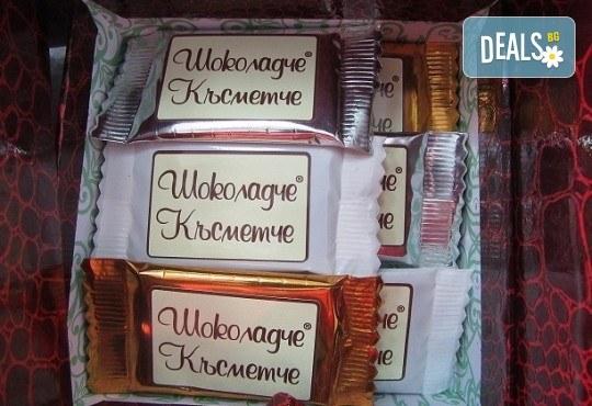 16 броя шоколадови късметчета от оригинален белгийски шоколад Callebaut в луксозна кутия от Choco Compliment - Снимка 3