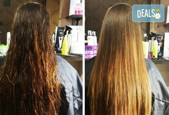 Масажно измиване на косата, нанасяне на подхранваща маска, оформяне със сешоар и бонус: оформяне на плитки в студио IGUANA, Мусагеница! - Снимка 1