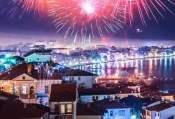 Нова година 2018 в Hotel Nova Riviera 3*, на брега на Охридското езеро! 3 нощувки, 3 закуски, 2 празнични вечери с включени напитки, транспорт и програма - Снимка
